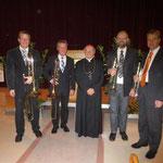Das Bläserquartett der Marktmusikkapelle Kaindorf mit Altbischof Johann Weber | November 2012