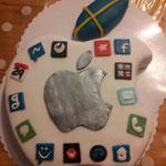 Apple Torte handgearbeitete Apps 69 Euro, gedruckte Apps 59 Euro