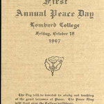 1907 First Annual Peace Day program