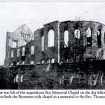 Roy Memorial Chapel after fire
