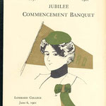 1901 Jubilee commencement banquet program