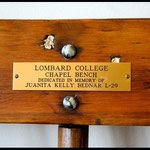 Lombard College chapel bench