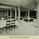 1907-1908 dining room in gymnasium