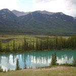 Nun verlassen wir Banff und fahren Richtung Calgary.