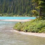 Das Wasser ist echt blau hier....