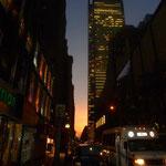 Ein Sonnenuntergang in Mannhatten hat auch was...