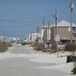 Ein Strandabschnitt bei Pensacola am Golf von Mexico.