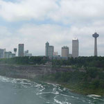 Die Aussicht über die Amerikanisch - Kanadische Grenze...