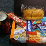Jeder von uns bekam ein Lunchpacket.
