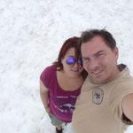 Wir im Schnee...
