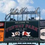 Der Fenway Park ist das Legendäre Station der Boston Red Socks...