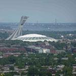 Das Olypiastadion ist von Weitem zu sehen...