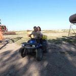 Nach der Vorspeise drehen wir eine Runde auf dem four wheeler. macht echt spass!
