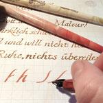 Handgeschriebene Schrift-Übung
