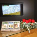 Kartenständer aus Altholz - BGL Milchwerke