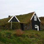 Iceland - case con tetti ricoperti di erba - houses with roof covered by grass