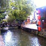 Lijiang canale e ponticello accesso bar