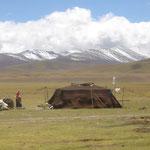 Gansu, tenda di lana di yak