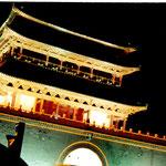 xian, torre del tamburo notte