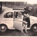 1965 - Angela e Fiat 500 - Angela and Fiat 500