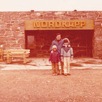 Beppe & children at Nord Kapp