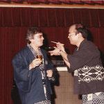 Tokyo 1970 - in giacca yukata per Incontro con notabili giapponesi - Meeting with Japanese notables in yukata jacket