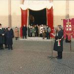 Omaggio di Beppe sindaco al nuovo parroco - Tribute of Beppe Mayor to the new church pastor