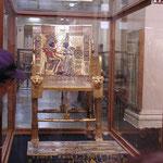 Tutankammon, trono - Museo di Cairo