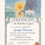 Certificate of North Cape