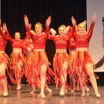 """Die Tanzgruppe Fasent Feet entfacht die Begeisterung des Publikums mit """"Fire & Ice"""""""