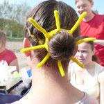 Sonnen-Frisur