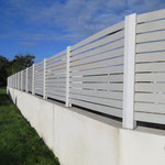 Mur de clôture avec claustra