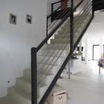 Réalisation d'un escalier béton