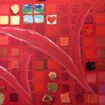 Abstrakt in rot