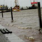 Hochwasser in Bensersiel