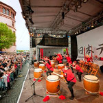 開会式後の和太鼓演奏会。© Düsseldorf Marketing & Tourismus GmbH
