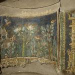 大理石や石灰石を用いたモザイク画。1世紀。© Fotografica Foglia (ナポリ)