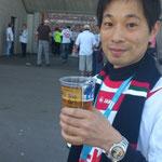 2年前に第一リーグに昇進したFCアウグスブルグの試合はちゃんと会場で応援する。