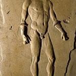 ボクサーのレリーフ(浮き彫り)。1世紀。© Fotografica Foglia (ナポリ)