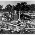 Die Ruhrbrücke in Geisecke nach der Möhnekatastrophe 1943
