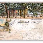 Postkarte mit Ansicht vom Wellenbad