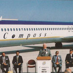 Compass -erster australischer MD-80-Betreiber/Courtesy: McDonnell Douglas/Collection: John Evanich