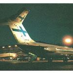 DC-9 mit angestrahltem Leitwerk/Courtesy: Finnair
