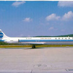 Postkarte mit einer MD-82 der China Northern Airlines
