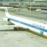 Eine MD-80 auf dem Flughafen Zürich/Privatsammlung