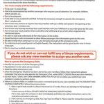 Hinweis für Fluggäste an den Notausstiegen/Courtesy: Flying America