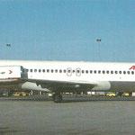 Postkarte mit der MD-87 OE-LMK