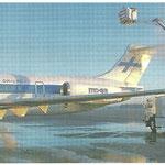Eine MD-83 der Finnair wird behandelt/Courtesy: Finnair