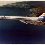 MD-80-Zeichnung im alten Aviaco-Farbkleid/Courtesy: McDonnell Douglas