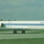 Die MD-83 OH-LMS/Postkarte